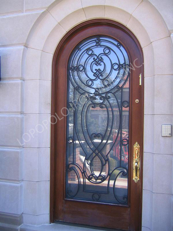 Door grills removable security grill for doors for Main entrance door grill